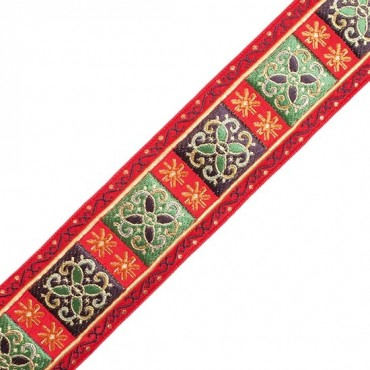 40MM Metallic Jacquard Red/Green