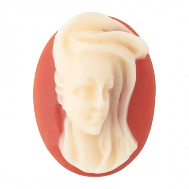 40x30 MM WINDSWEPT WOMAN CAMEO