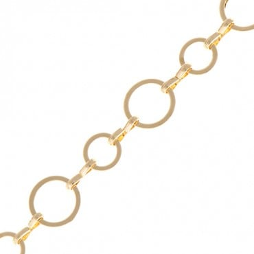 8MM BRASS CIRCLE CHAIN-GOLD