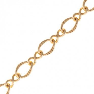 10MM BRASS CURB FANCY CHAIN