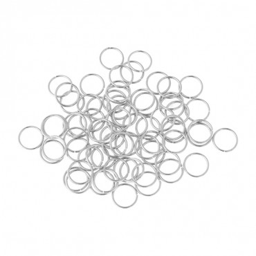 BEADALON 4MM JUMP RINGS 80 PIECES
