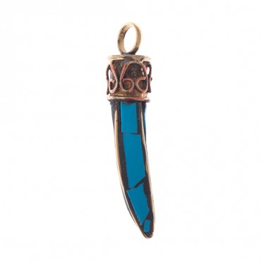 TURQUOISE SMALL TOOTH PENDANT