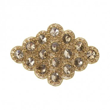 "4"" Diamond Shaped Rhinestone Applique"