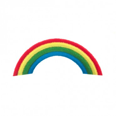 Iron On Arched Rainbow Patch