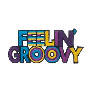 """4"""" (100mm) Feeling Groovy Applique"""