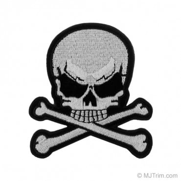 "3"" Skull and Crossbones Applique"