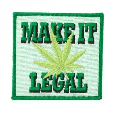 "Iron On ""Make It Legal"" Marijuana Patch"