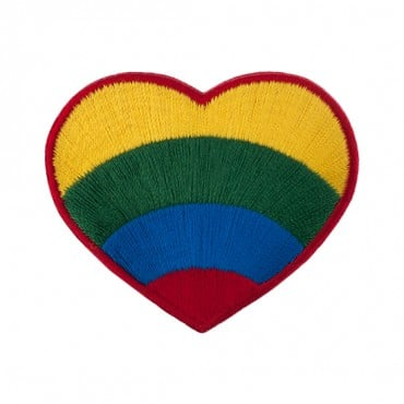 "2 1/4"" (58mm) Rainbow Heart Applique"