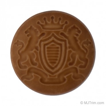 Embossed Crest Button