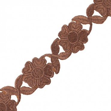 "1 1/2"" Daisy Iron-on Metallic Trim"