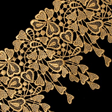 "5 1/2"" (140 MM) Floral Metallic Lace"