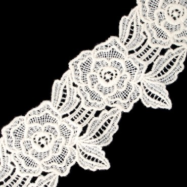 "4"" (102 MM) Rose Wool Lace"
