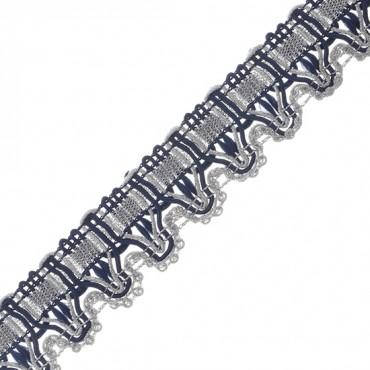 "1"" (25mm) Metallic Scalloped Braid"