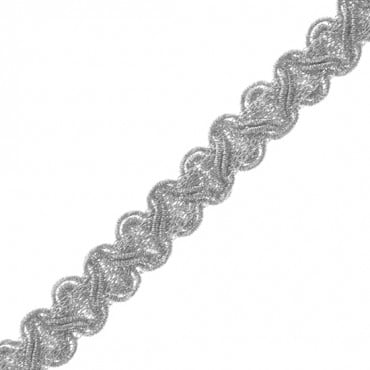 "1/2"" (13 MM) Zig Zag Metallic Braid"