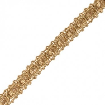 "3/8"" (10mm) Chain Link Metallic Braid"