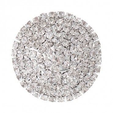 Brilliance Dome Point Rhinestone Button with Shank