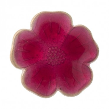 Enamel Flower Button with Shank