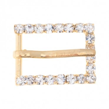 "1 3/8"" x 1"" Rectangle Rhinestone Buckle"