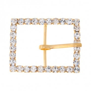 "1 3/4"" x 1 3/8"" Rectangle Rhinestone Buckle"