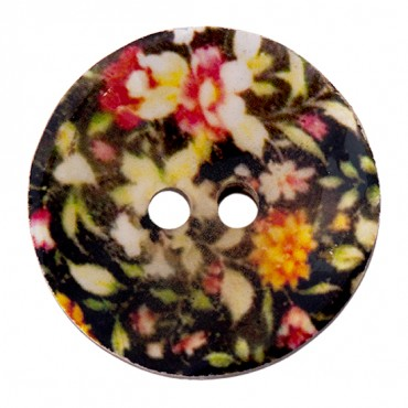 Two Hole Printed Coconut Button