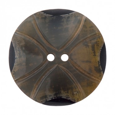 """39mm Two-Hole Horn """"X"""" Button"""