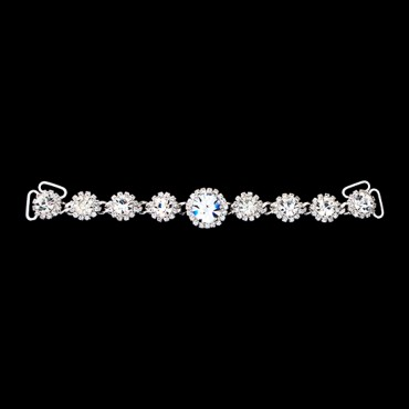 "5 1/4"" Rhinestone Connector with Large Center Stone"