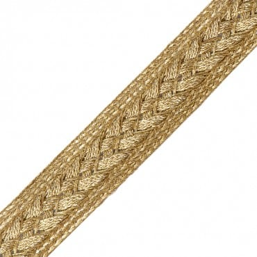 15mm Braided Metallic Weave Trim