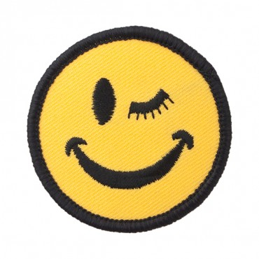 Iron On Winking Face Patch