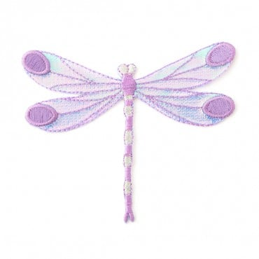 Iron On Purple Dragonfly Patch