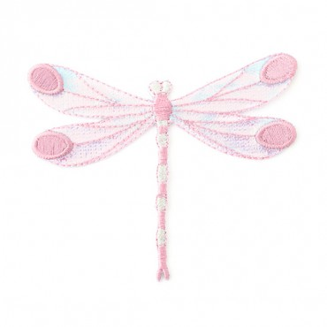 Iron On Pink Dragonfly Patch