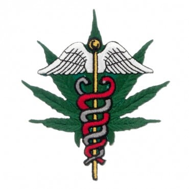 Iron On Medical Marijuana Leaf Patch