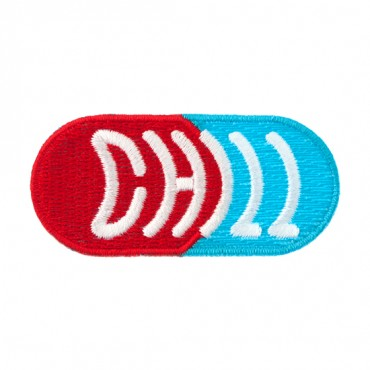 """Iron On """"Chill"""" Pill Patch"""