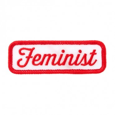 "Iron On ""Feminist"" Patch"