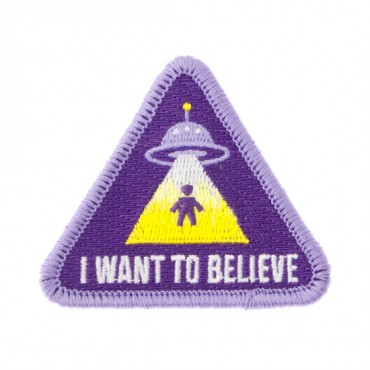 "Iron On ""I Want to Believe"" Alien Patch"