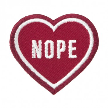 """Iron On """"Nope"""" Heart Patch"""