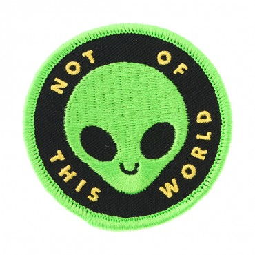 "Iron On ""Not of This World"" Alien Patch"