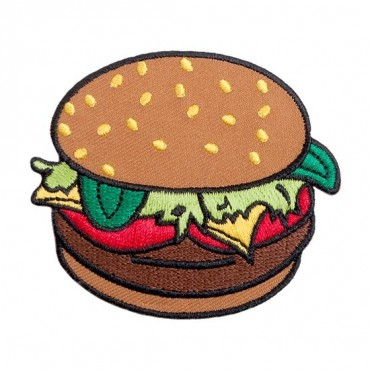 Iron On Burger Patch