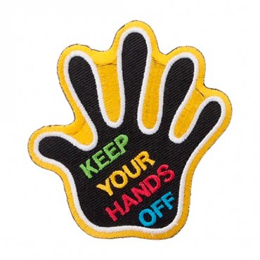 "Iron On ""Keep Your Hands Off"" Patch"