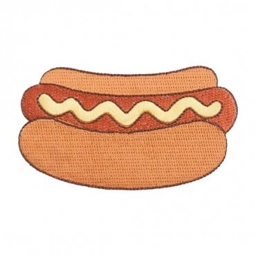 Iron On Hot Dog Patch