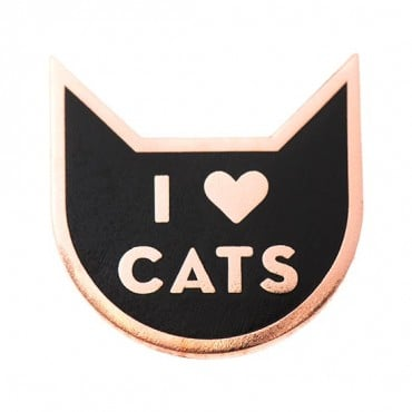 """I Heart Cats"" Pin"
