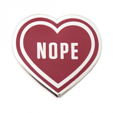 Nope Heart Pin