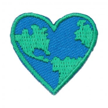 Stick On Love the Earth Heart Patch