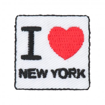 "Stick On ""I Love New York"" Square Patch"