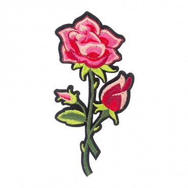 Iron On Rose and Tulip Patch