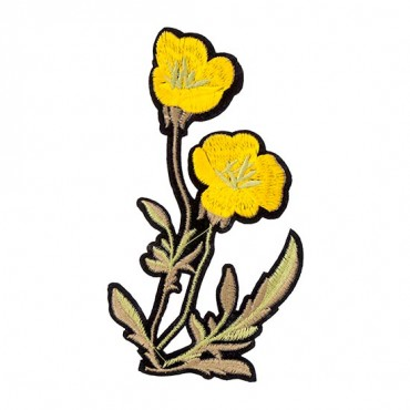 Iron On Yellow Flowers Patch