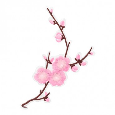Iron On Pink Blossom Patch