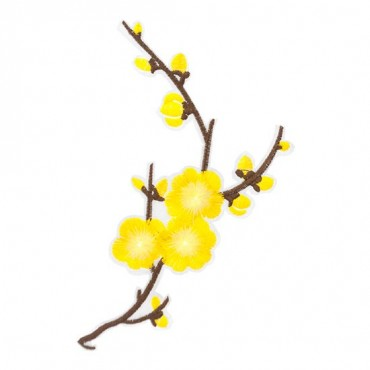 Iron On Yellow Blossom Patch