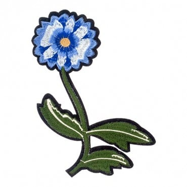 Iron On Blue Daisy Patch