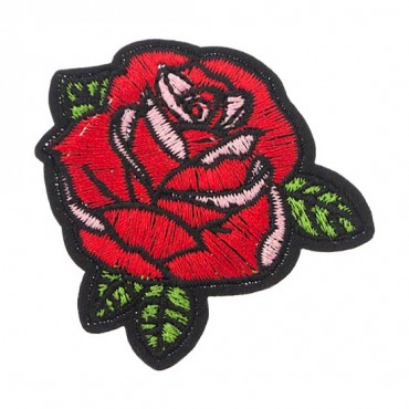 Iron On Red Rose Petal Patch