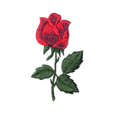 Iron On Classic Rose Patch